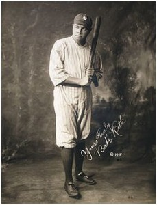 Babe Ruth, the swashbuckler of baseball that played golf as well.