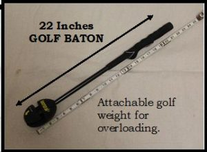 The 22-inch golf baton for developing golf mechanics and lag
