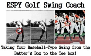 Time-lapse photo of the golf swing compared to the baseball swing.