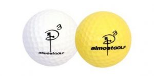 To help develop a more effective golf training exercise in your backyard or vacant field, I would recommend purchasing a dozen or more of the Almost Golf Balls® from LIBERTY Health Supply. Please select one of the products below to purchase these golf balls that simulate the actual golf ball, without the concern for property damage or personal injury to others. These balls only travel a third of the distance of an actual golf ball, up to 100 yards.