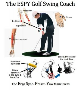 The Ergo Sync, Preset, and Yaw Golf Swing APP Default