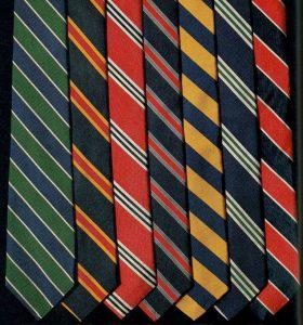 Regimental stripes ties
