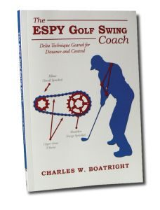 The ESPY Golf Swing Coach, a Self-Golf Swing Coaching Technique and simple Sports Psychology enabling the golfer to take the baseball swing sequence from the batter's box to the tee box.