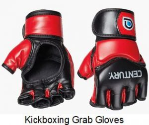Kickboxing gloves I use to help me preset my wrists and create lag in my golf swing workout with a 80-lb punching bag.