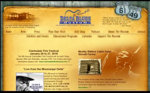 Mississippi Delta Blues Museum Web Page