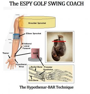 HY-BAR Golf Swing Technique to develop the golfer's golf swing mechanics on and off the golf course.