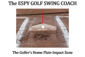 Home plate and batter's box Golfer's hitter Zone