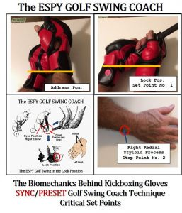 The biomechanic behind kickboxing gloves gap Sync/Preset Golf Swing Coach Technique Critical Set Point.