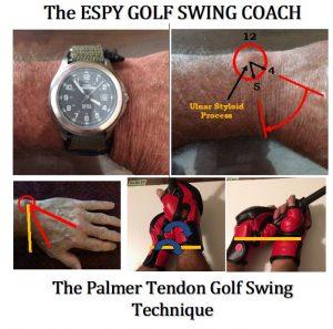 The Palmer TECH to Sync/Preset the golf swing mechanics.