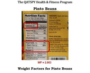 Nutrition Label for Pinto Beans
