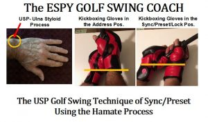 Butterfly Nut USP wrist action in the golf swing technique.