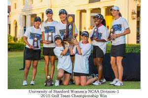Congratulations to both the women's golf teams of Univ. Baylor and Univ. of Stanford for a great competition in the final match play format golf tournament played at Concession Golf Course, in Bradenton, FL. This 2015 NCAA Golf tournament that was made for TV sports event, displaying classic golf swing machanics highlighting the caliber of competition in women's sports.