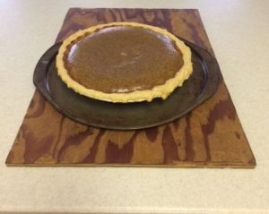 Figure No. 4 The finished baked Pumpkin Pie that I use as Breakfast of Champions.