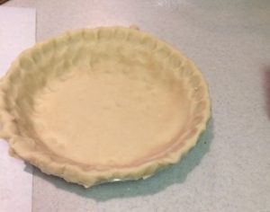 Figure No. 3 Pie shell ready to be filled with the filling.