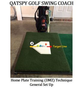 Another component to use in the Bunt-Type Chip and Pitch Drill is a throw-down home plate, shown above. The throw-down home plate is a training drill used for ball positioning, Sync and Preset, and creating a strike-zone for focus.