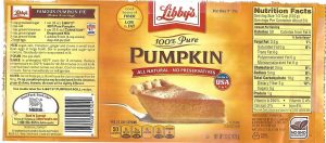 LIBBY'S Pumpkin Puree The Breakfast of Champions with a Weight Factor of 2.92