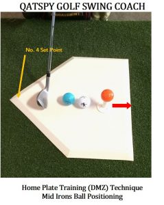 The HOME PLATE STRIKE ZONE DRILL develops alignment for fades, draws, or down the middle golf shots.