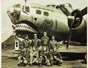 B-17 (Flying Fortress) Crew wearing their A-2 Leather Flight Jacket