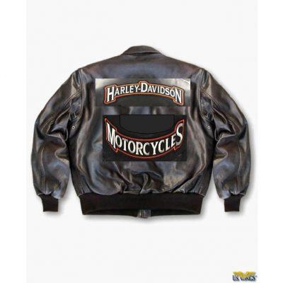 Biker Leather Flight Jacket